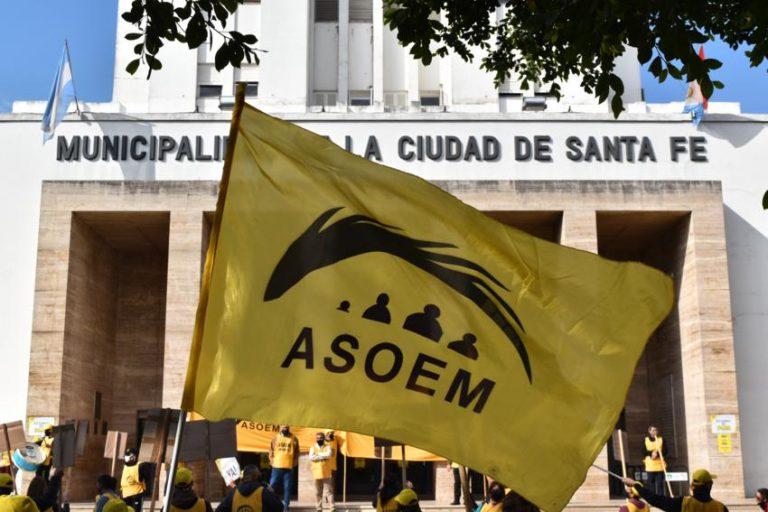 Manifestación en la Municipalidad de Santa Fe