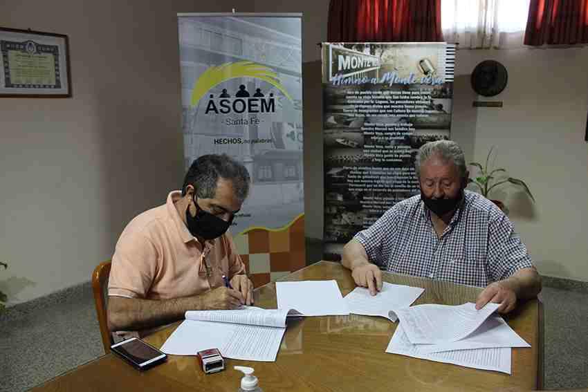Firma del Acta Paritaria 2020 en Monte Vera.