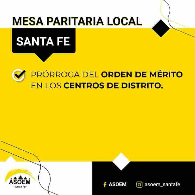 Acta Acuerdo de la Mesa Paritaria Local Santa Fe