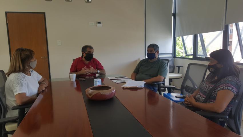 Reunión con delegadas de la Municipalidad de Recreo